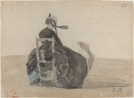 Seated Lady in Black, Trouville