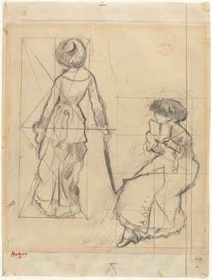 Study for Mary Cassatt at the Louvre [recto]