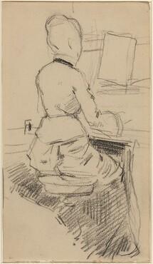 Young Woman Seated at a Piano [recto]
