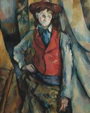 Paul Cézanne, Boy in a Red Waistcoat, 1888-1890