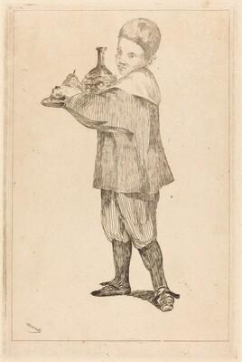 Child Holding a Tray (L'Enfant Portant un Plateau)