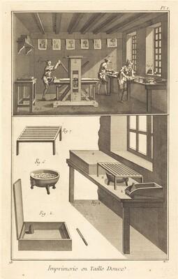 Imprimerie en Taille Douce: pl. I