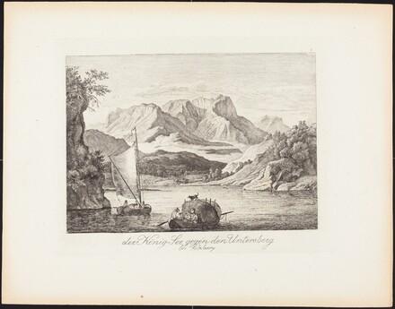 Der König-See gegen den Untersberg bei Salzburg (Königsee toward the Untersberg near Salzburg)