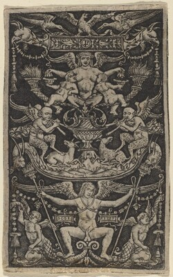 Panel of Ornament with a Satyress Feeding Two Children