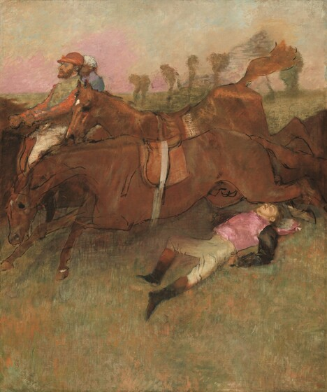 Edgar Degas, Scene from the Steeplechase: The Fallen Jockey, 1866, reworked 1880-1881 and c. 18971866, reworked 1880-1881 and c. 1897