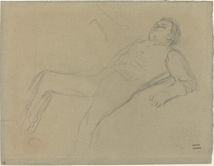 Fallen Jockey (study for Scene from the Steeplechase: The Fallen Jockey)