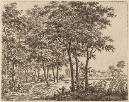 Landscape with a Peasant Carrying Firewood