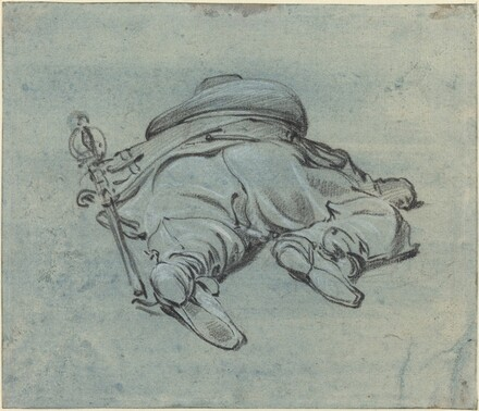 A Cavalier Lying on the Ground