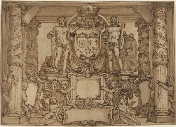 An Architectural Wall Design in Honor of Henry IV, the Gallic Hercules