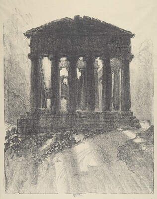 Sunrise Behind Temple of Concord, Girgenti