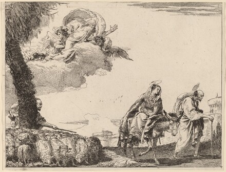 The Flight with the Holy Family at the Right
