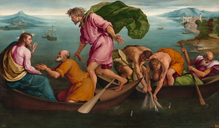 Jacopo Bassano, The Miraculous Draught of Fishes, 15451545