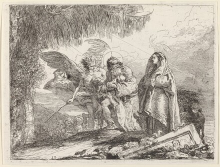 The Flight, Holy Family Walking with Angel