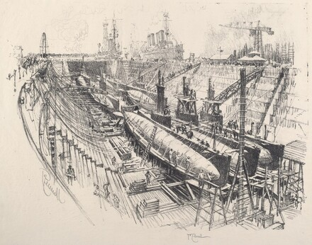 Submarines in Dry Dock