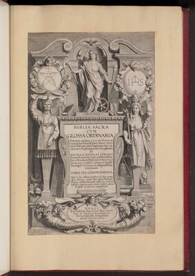 Title Page for Biblia Sacra Cvm Glossa Ordinaria