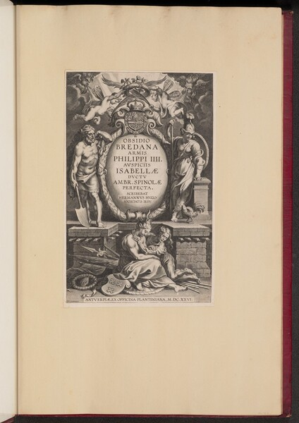 Title Page for Herman Hugo's Obsidio Bredana