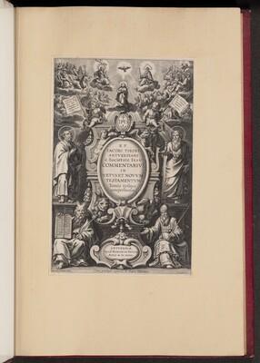 Title Page for R.P. Jacobi Tirini's Commentarius in Vetvs et Novvm Testamentvm