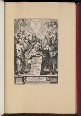 Title Page for Balthasar Cordier's Opera S. Dionysii Areopagitae, I