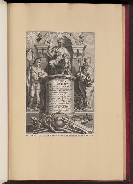 Title Page for Hubert Goltzius's Icones Imperatorvm Romanorvm (Opera Omnia, V)