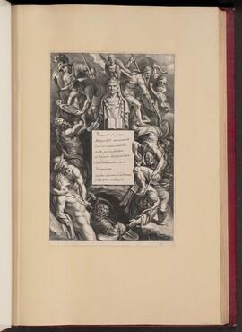 Title Page for Hubert Goltzius, Romanae et Graecae Antiqvitatis Monvmenta (Opera Omnia, I)