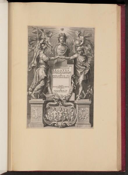 Title Page for Frederik de Marselaer, Legatvs