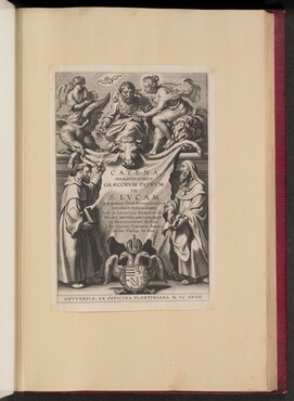 Title Page for Balthasar Cordier, Catena Sexaginta Qvinqve Graecorvm Patrvm in S. Lvcam...