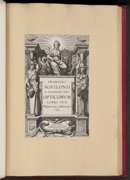 Title Page for François d'Aguilon's