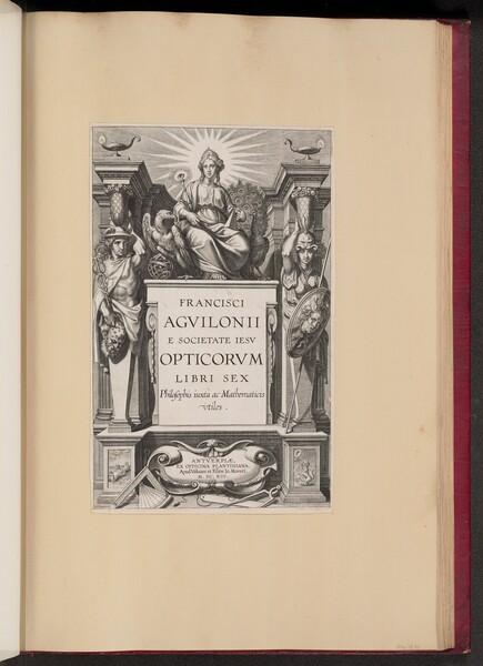 Title Page for François d'Aguilon's Opticorum Libri Sex