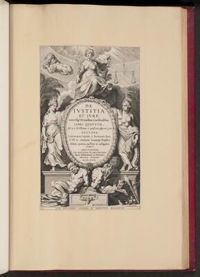 Title Page for Leonard Lessius, De Ivstitia et Ivre...