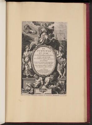 Title Page for Leonard Lessius, De Ivstitia et Ivre