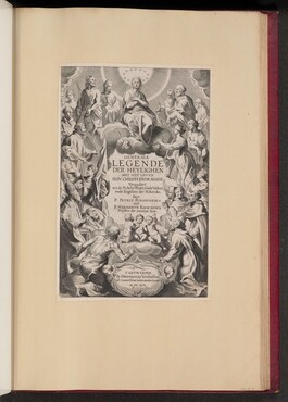 Title Page for P. Ribadineira and H. Rosweyde, Generale Legende Der Heylighen