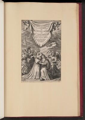 Title Page for Histoire Cvrievse de Tovt Ce Qui C'est Passé a l'Entree de La Reyne Mere dv Roy Treschrestien...