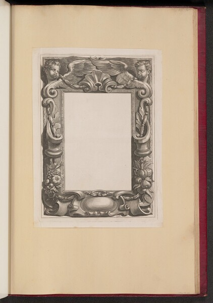 Border Illustration with Two Putti and Fruit