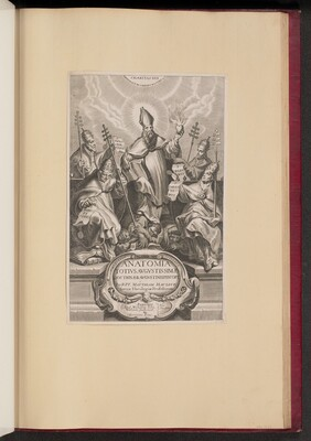 Title Page for Anatomia Totivs Avgvstissimae Doctrinae Avgvstinae