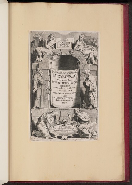 Title Page for Heribert Rosweyde, 'T Vaders Boeck