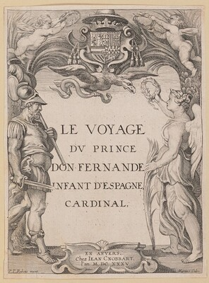Title Page for Le Voyage Dv Prince Don Fernande Infant d'Espange, Cardinal