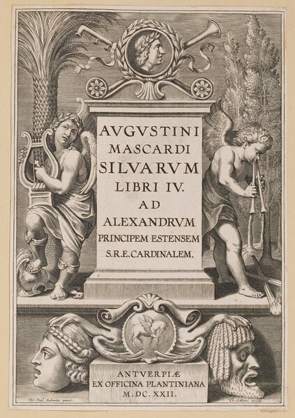 Title Page for Agostino Mascardi, Silvarium Libri IV