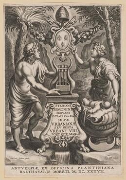 Title Page for Stephanus Simonini, Silvae Urbaninae