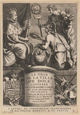 Title Page for Jean Boyvin, Le Siege de la Ville de Dole