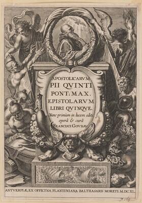 Title Page for Apostolicarvm PII Qvinti Pont. Max...