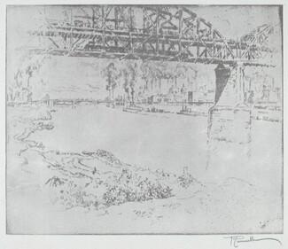 The City Bridge, St. Louis [bottom]