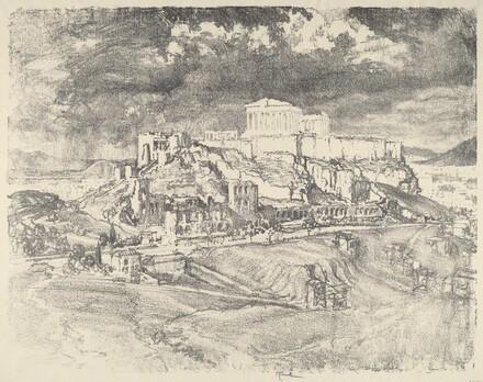 Storm behind the Acropolis