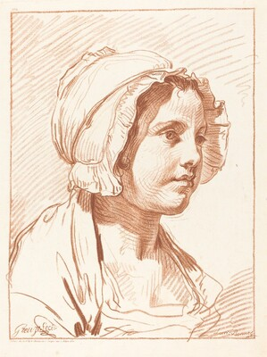 Head of a Young Woman Wearing a Cap