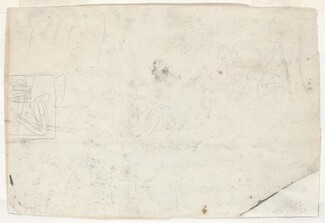 Figure on Horseback and Other Studies [verso]