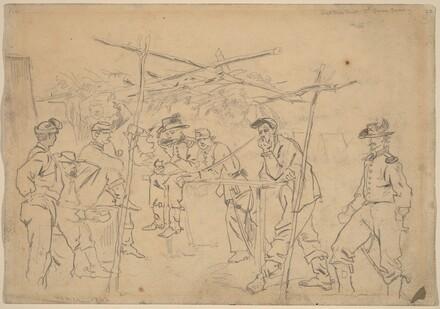 Sutler's Tent, 3rd Pennsylvania Cavalry [recto]