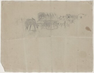 Supply Train and Mules [verso]