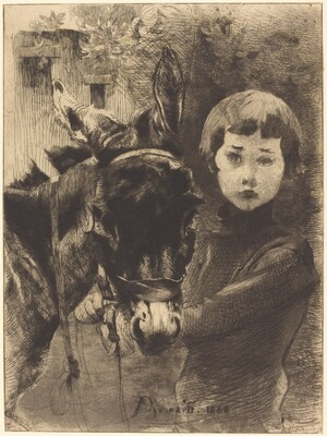 Robert Besnard and His Donkey (Robert Besnard et son ane)