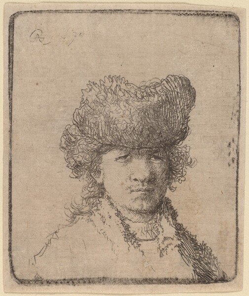 Self-Portrait in a Fur Cap