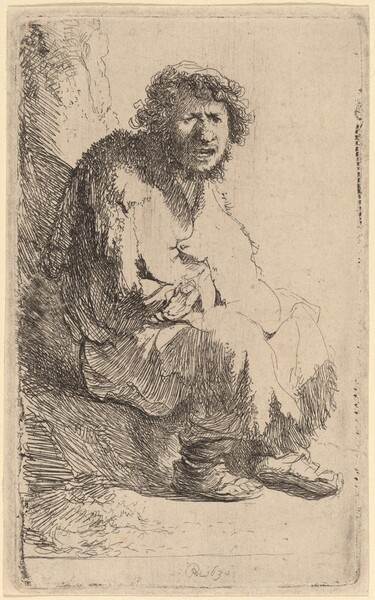 Beggar Seated on a Bank