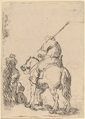 Turbaned Soldier on Horseback